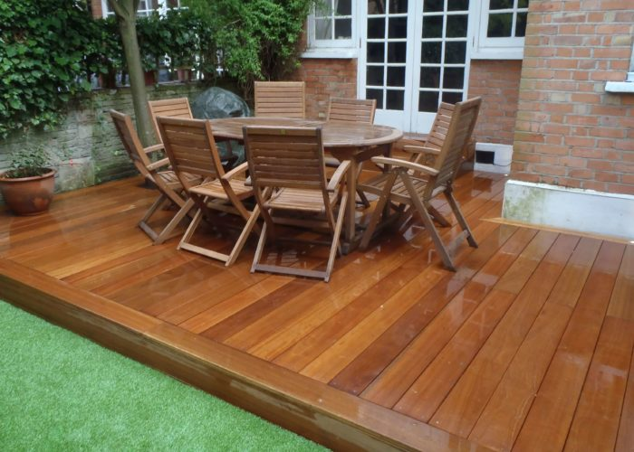 Garden Decking with Table & Chairs