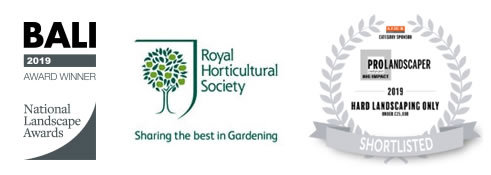 BALI 2019 Award Winner, Royal Horticultural Society Member, Pro Landscaper 2019 Shortlisted